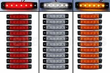 30 pcs 6 LED SMD 12V RED WHITE ORANGE Side Marker Light Position Truck Bus Auto