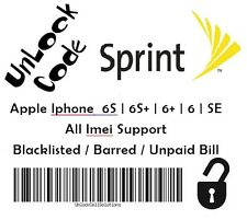 PREMIUM SPRINT USA FACTORY UNLOCK CODE IPHONE 6S | 6S+ | 6+ | 6 | SE | 5S | 5C