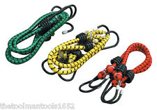"New 6pc Bungee Bungie Cord Tie Down Straps  Assortment Set 12"" 18"" & 24"""