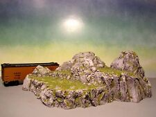 Model Railroads and Train Scenery Painted Granite Cliffs Resin Ho scale O, On3 N