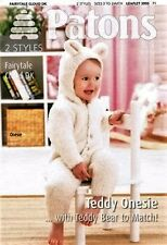 Baby,Toddler.Teddy Onesie With Teddy Bear To Match Knitting Pattern - 3995