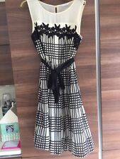 M&S Autograph black and cream checked dress. Size 12. New