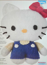 Hello Kitty Toy Knitting Pattern