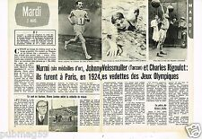 Coupure de presse Clipping 1976 (2 pages) Jeux Olympiques 1924 Weissmuller