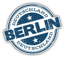 "Berlin City Germany Grunge Travel Stamp Car Bumper Sticker Decal 5"" x 4"""