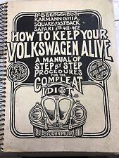 HOW TO KEEP YOUR VOLKSWAGEN ALIVE BOOK VW BUG ORIGINAL MANUAL 1976