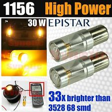 2x 1156 7506 Amber/Yellow High Power Epistar Turn Signal LED Light Bulbs
