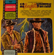 "OST - SOUNDTRACK - COLONNE SONORE ORIGINALI 12 SPAGHETTI WESTERN  12""  LP (L506)"