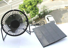 Solar Panel Powered USB Mini 4''fan system for Outdoor Camping Home Cooling
