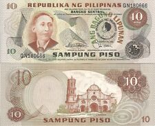 Philippines P167a 10 Piso, A. Mabini / Barasoain Church, UNC 1981 check UV image