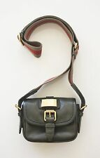 MARC BY MARC JACOBS MINI CAMERA BAG Green Leather Canvas Strap Crossbody Purse