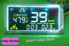 48V 60V Multifunction Voltmeter Thermometer Speedometer Für Electric Bicycle Car
