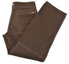 Kuhl Crag Series Brown Woven Cotton Zip Pocket Jeans Style Pants 34 x 32