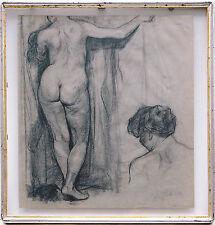 Eugen SPIRO 1874-1972 Weiblicher Akt, Kreide 1888 Frühwerk+WVZ Buch-publiziert
