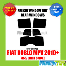FIAT DOBLO MPV 2010+ 35% LIGHT REAR PRE CUT WINDOW TINT