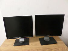 """Lot of 2 DELL 1908FPF 19"""" Flat Panel LCD Monitor Black & Gray w/VGA Video Cable"""