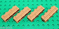 Lego Medium Nougat Brick 1x4 Masonry 4 pieces (15533) NEW!!!