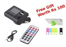 Car Charger Kit MP3 Player Wireless FM Transmitter Modulator USB Drive SD Remote