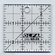 "Olfa Quilters Patchwork Ruler Square Non-Slip  2.5"" x 2.5"""