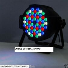 UNIQUE - FLAT PAR LED 54 x1W PAR RGB LIGHTING DJ PARTY DISCO /STAGE LIGHT /DMX S