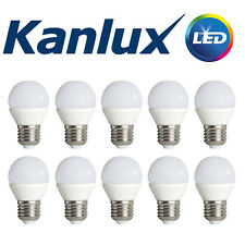 10x Kanlux E27 LED Golf Ball Globe Light Bulb Lamp 6.5W 4000K Cool White 600 Lm