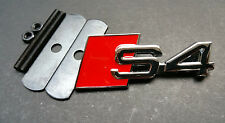 Red Chrome Metal S4 Logo Emblem Head Fro Grille Clip Badge 2010-2017 Audi S4 A4