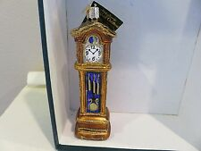 Grandfather Clock Old World Christmas glass ornament