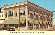 Albany Oregon Business School College Street View Vintage Postcard K57473