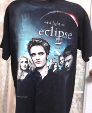 Twilight Eclipse Edward & Cast Black T-Shirt- Size LARGE- FREE S&H (TWTS-009)