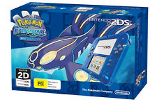 Nintendo 2DS Transparent Blue console + Pokemon Alpha Sapphire *NEW* + Warranty!