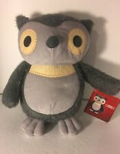 "Aesops Fables Owl plush  KOHLS CARES Gray 10"" Tall New with tag"
