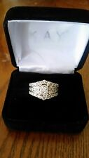 2 Carat Diamond Engagement Ring Size 4.5 White Gold Band CAN BE RESIZED