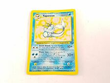 Pokemon TCG Card Jungle Set Vaporeon 12/64 Fossil Rare Holo