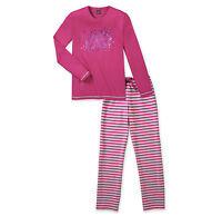 SCHIESSER Mädchen Pyjama lang Streifen Sterne 140 152 164 176 Schlafanzug NEU