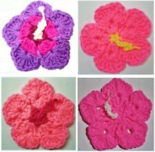 HIBISCUS FLOWERS & LEAVES COASTERS & HOT PADS CROCHET PATTERNS