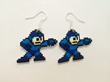Mega Man Geek Video Game Gamer Earrings Handmade Plastic Charms Nintendo 8-Bit
