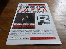 FRANK ZAPPA - Publicité de magazine / Advert STRICTLY COMMERCIAL !!!!!!!