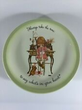 Vintage 1972 Holly Hobbie plate Always take the time to say what's in your heart