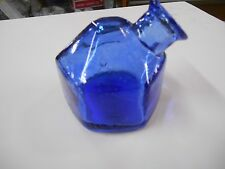 Cobalt Blue Glass PAR. A. SOL Denver Co. Turtle Inkwell in VERY NICE condition