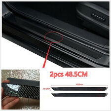 2× Universal Carbon Fiber Car Door Sill Scuff Plate Protector Panel Trim 48.5cm