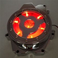 RED LED see through Engine Stator cover for 03-06 Yamaha YZF R6 03-09 R6S CHROME