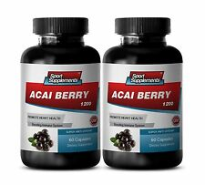Pure Acai Berry Juice - Acai Berry Extract 1200mg - Energy Booster Pills 2B