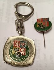 Czech Republic Key Ring And Tie Pin