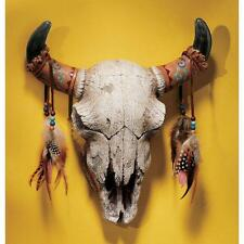 Iconic Symbol Old of the West Steer Skull Wall Sculpture Animal Totem Home Decor