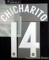 Manchester United Chicharito 12/13 Uefa Champions League Football Shirt Name Set