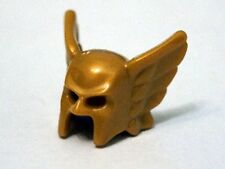 LEGO - Minifig, Headgear Helmet with Wings and Open Chin - Pearl Gold