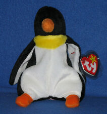 TY WADDLE the PENGUIN BEANIE BABY - MINT with NEAR PERFECT TAG