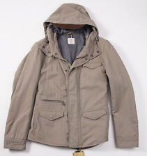 NWT $1695 BORRELLI LUXURY VINTAGE Hooded Field Coat Parka 50/M Wool Lining
