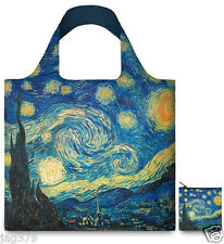 STARRY NIGHT Van GOGH Museum ART Eco Reusable Fold Up Shopping Bag & Pouch LOQI