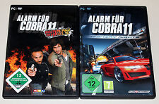 2 PC juegos set-alarma para cobra 11-Burning Wheels & Highway Nights-DVD